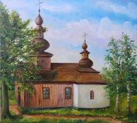 tento krásny obraz starej cerkvi nám podľa fotografie namaľoval pán Dušan Adam