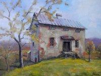obraz mlyna zachytený štetcom Dušana Adama