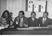 členovia volebnej komisie v Cigle v roku 1975