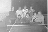 pingpong v kultúrnom dome - rok 1976