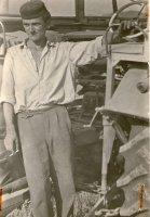 jeden z prvých traktoristov na družstve