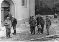 vonkajšia oprave cerkvi - rok 1970