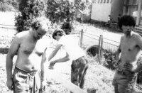 brigáda SZM v miestnom parku - rok 1983