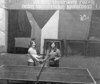 pingpong sa hrával v kultúrnom dome - rok 1967