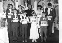 prvé sväté prijímanie s otcom duchovným Baranikom 18.8.1985