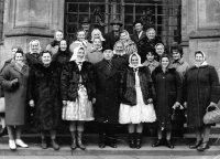 aj dve Ciglanky patrili medzi vybraté vzorné družstevníčky z celého Slovenska, ktoré boli prijaté prezidentom Antonínom Novotným v Prahe - rok 1967